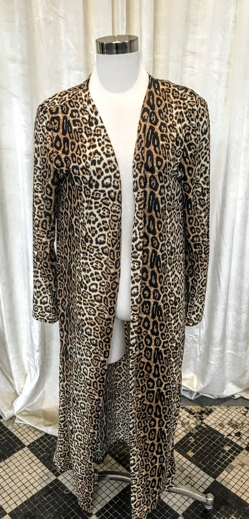 Sweep the Floor Cardigan Leopard Print Plus Size