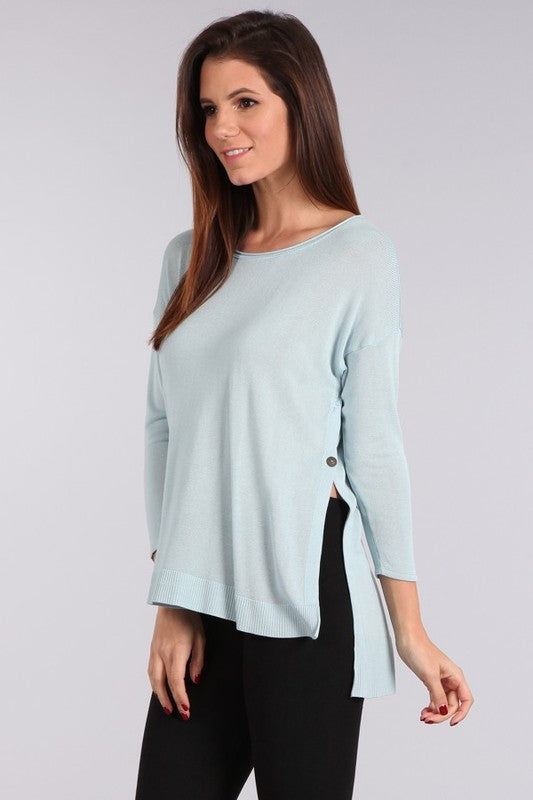 Easy Breezy Sweater Blue Bell
