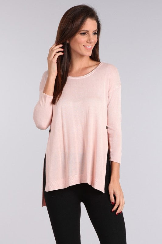 Easy Breezy Sweater Cameo Rose