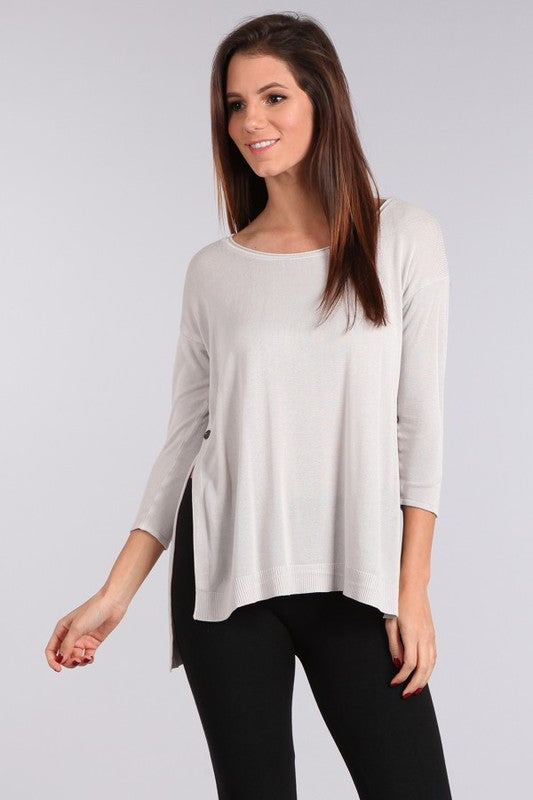 Easy Breezy Sweater Light Grey