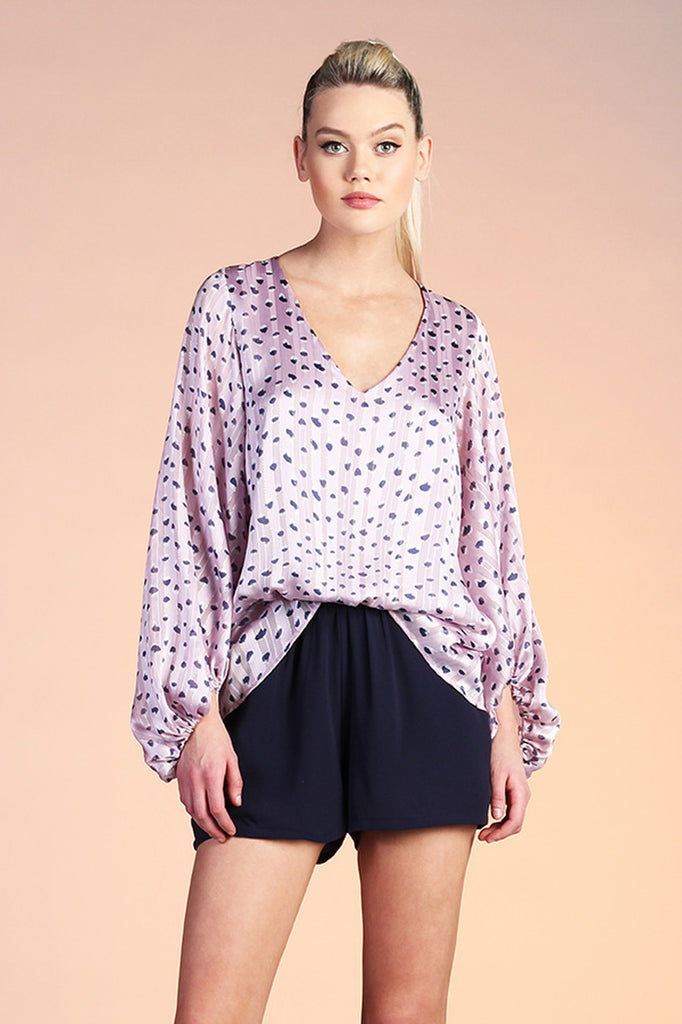 Lady In Lavender Blouse