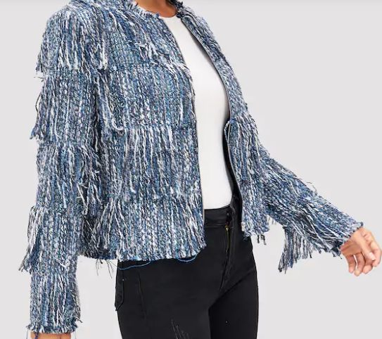 Fabulous In Fringe Tweed Chanel Style Jacket