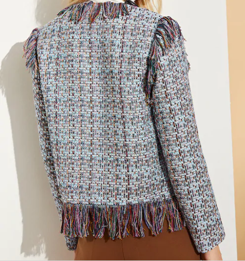 Cropped and Colorful Tweed Jacket