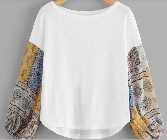Gypsy Girl Thermal Top White