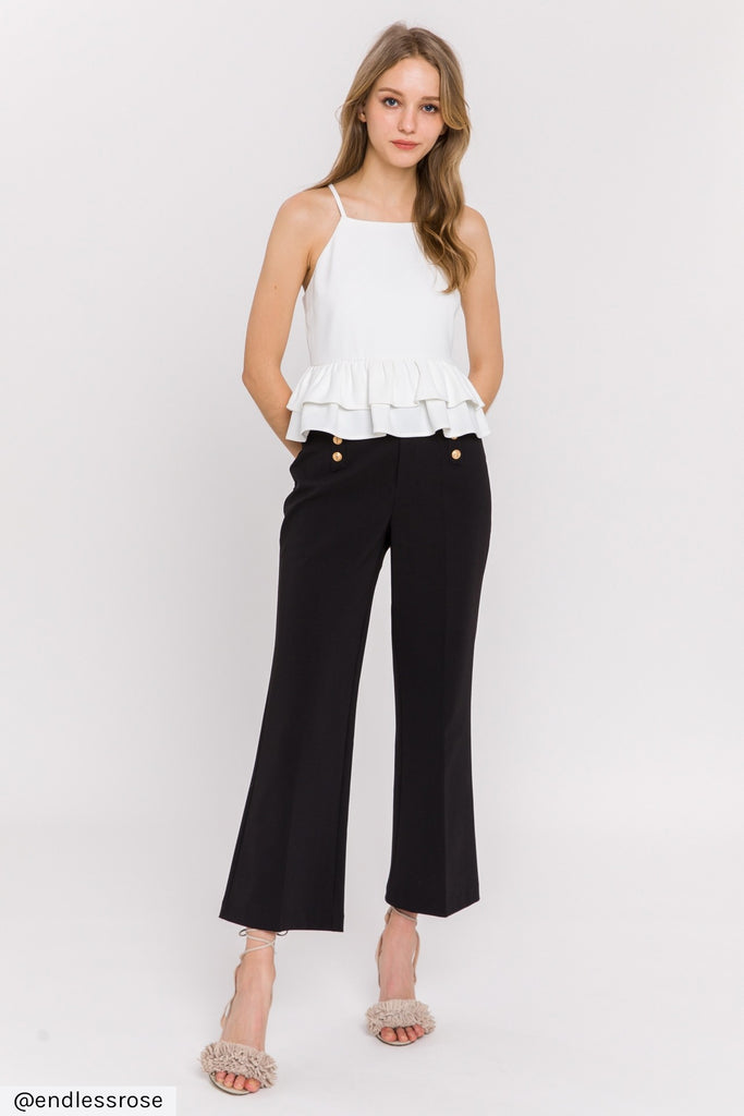 Sail Away With Me Pants in Black