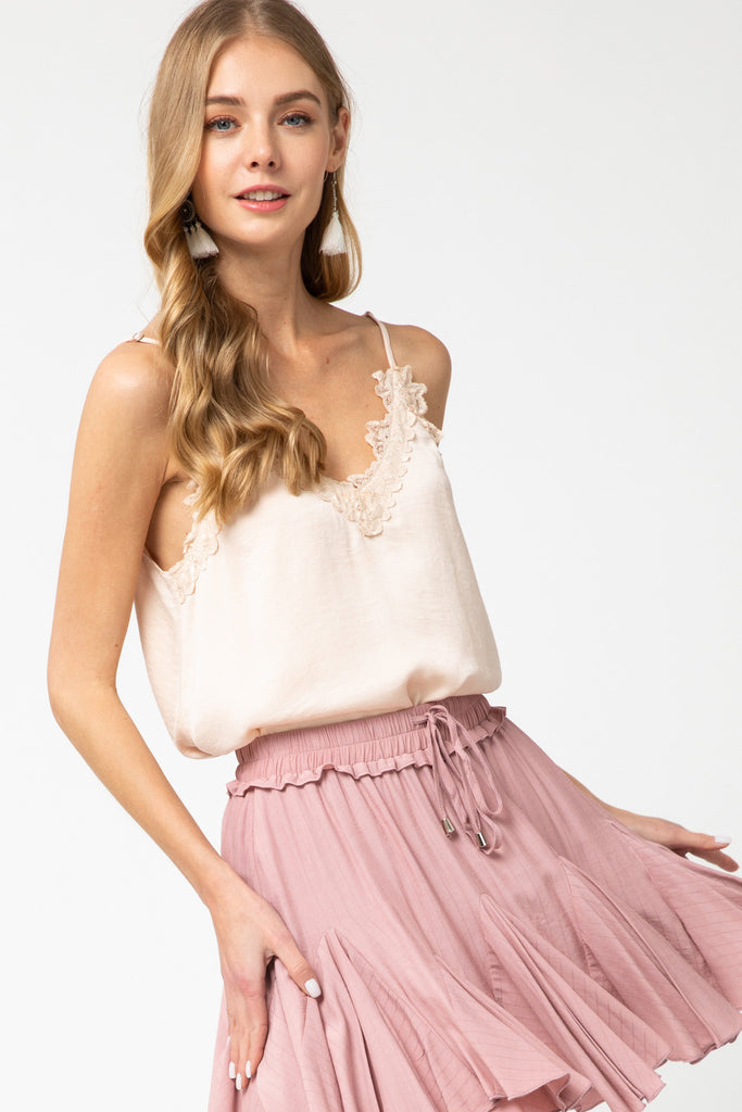 The Kelly Mini Skirt in Blush