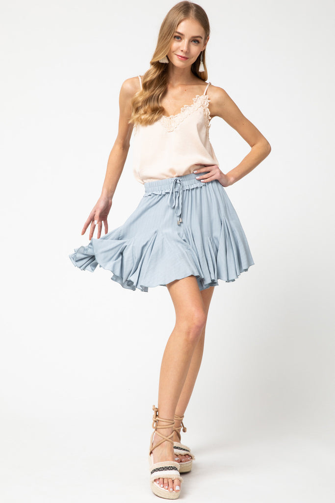 The Kelly Mini Skirt in Blue