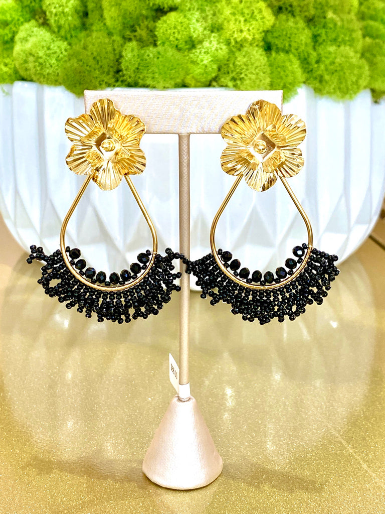 Whitney Black Earrings