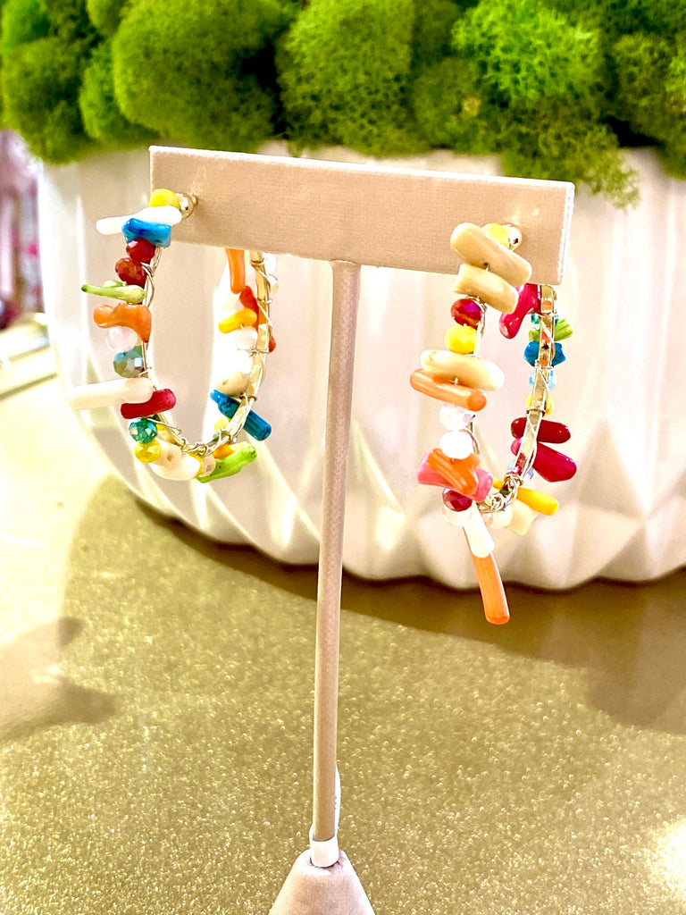 Reef Multicolor Hoop Earrings