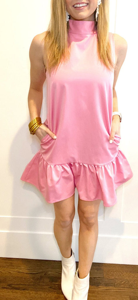 Libba Dress in Candy Pink