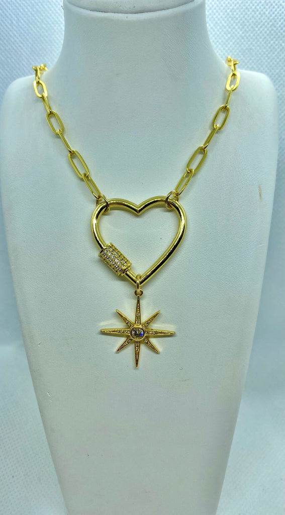 Rose Chain Necklace W/ Star Charm