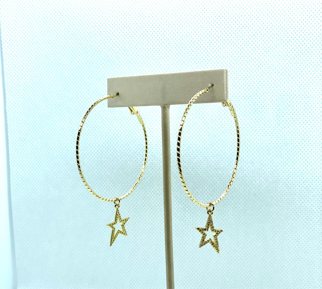 Claire Star Hoop Earrings