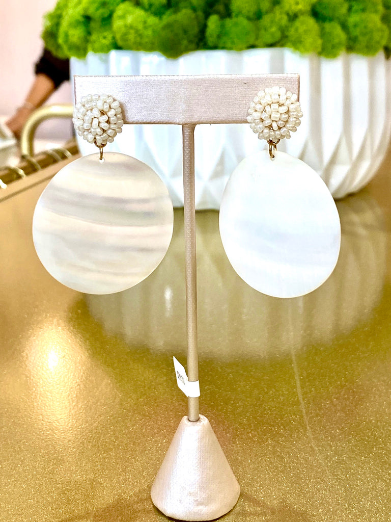 Mother of Pearl Oval Earrings