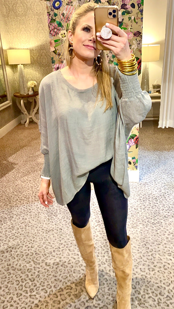 Camille Blouse Grey