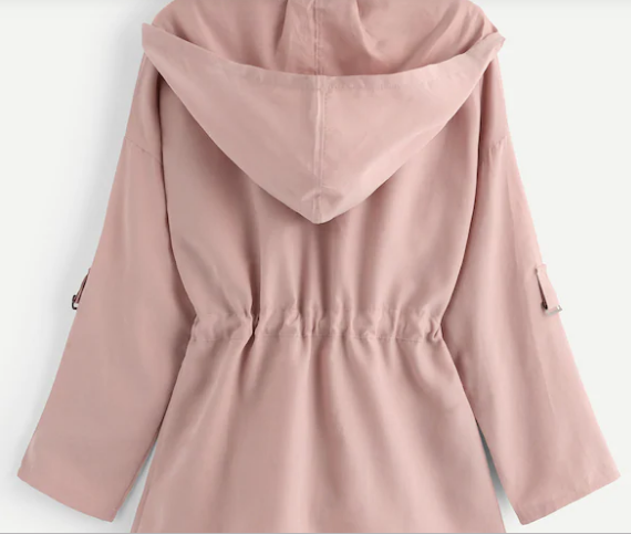Moody Monday Utility Jacket Rose