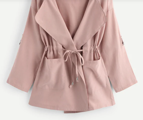 Moody Monday Utility Jacket Dusty Rose Plus Size