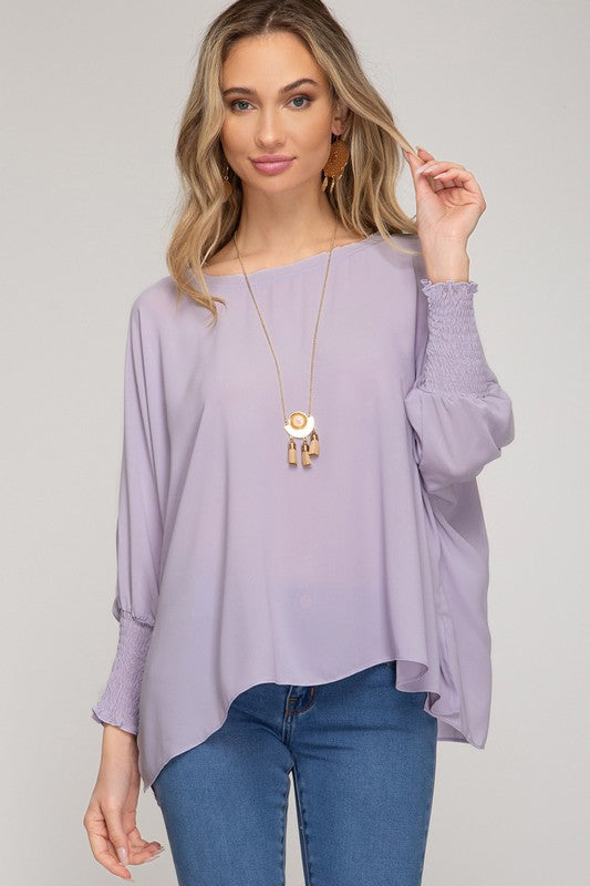 Lady In Lilac Blouse