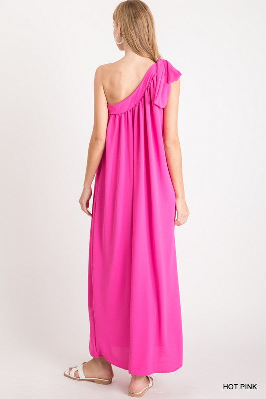 Emery Maxi Dress in Hot Pink