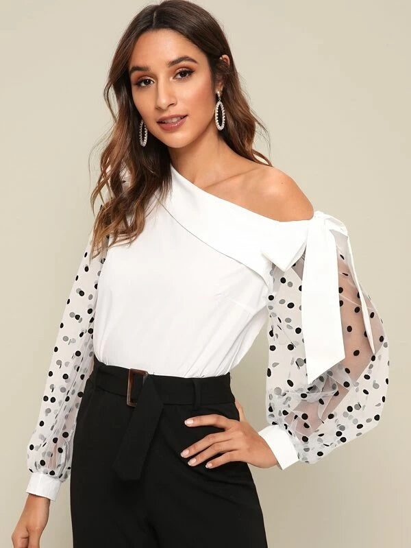 The Olivia Top in White