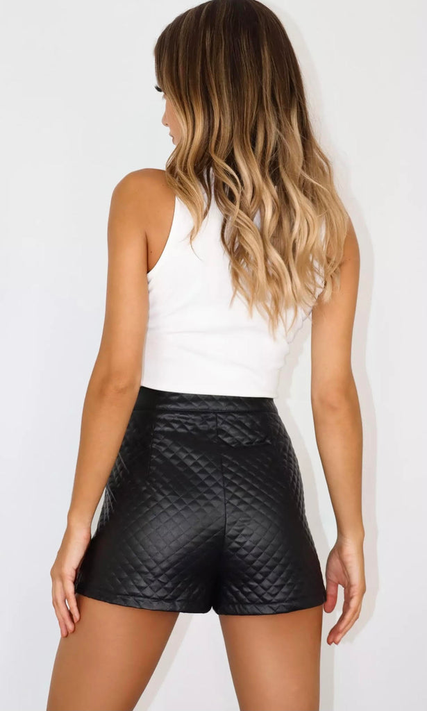Monica Quilted Leather Shorts