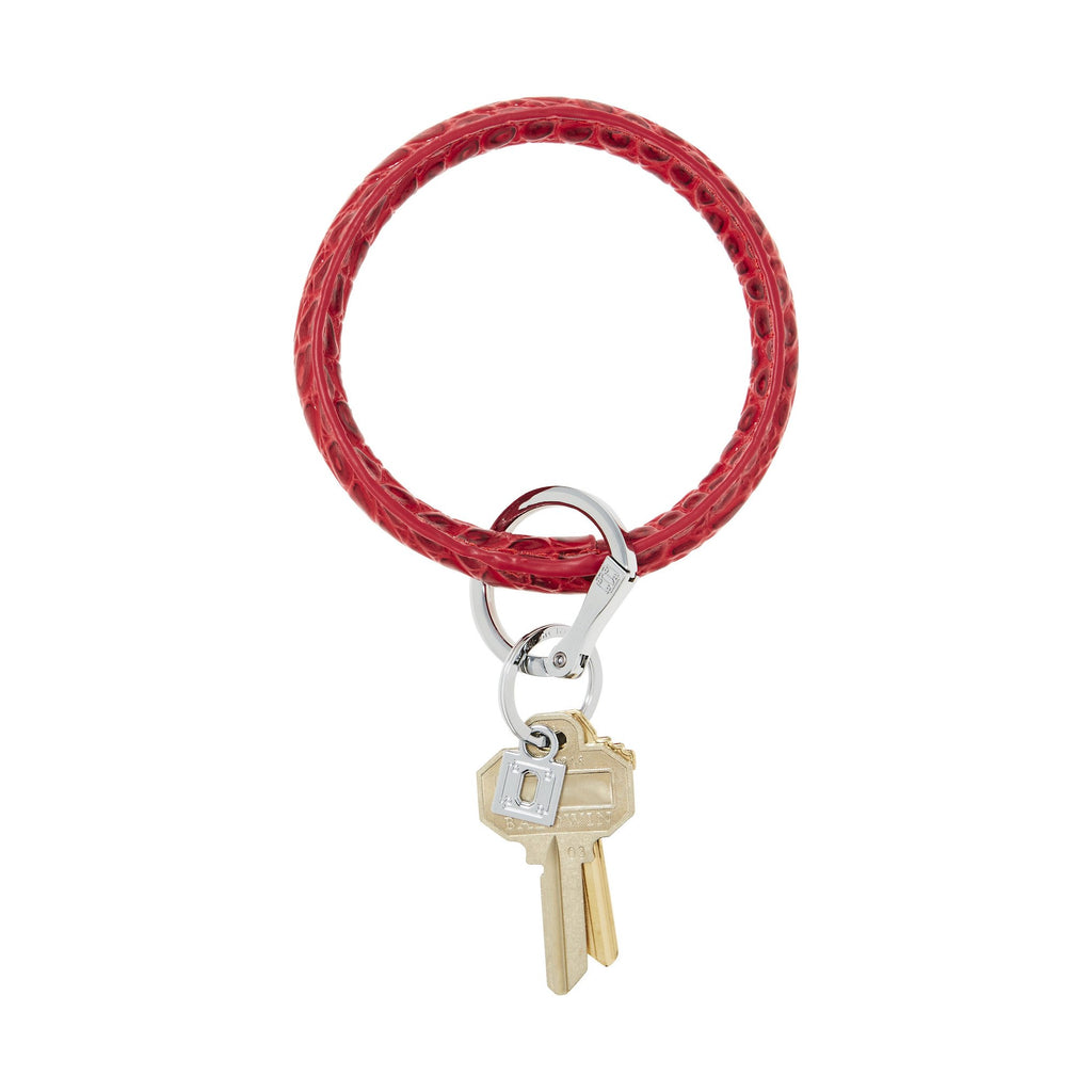 O-Venture Cherry On Top Croc Leather Key Ring