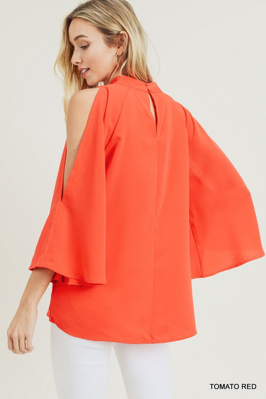 The Camila Blouse Red