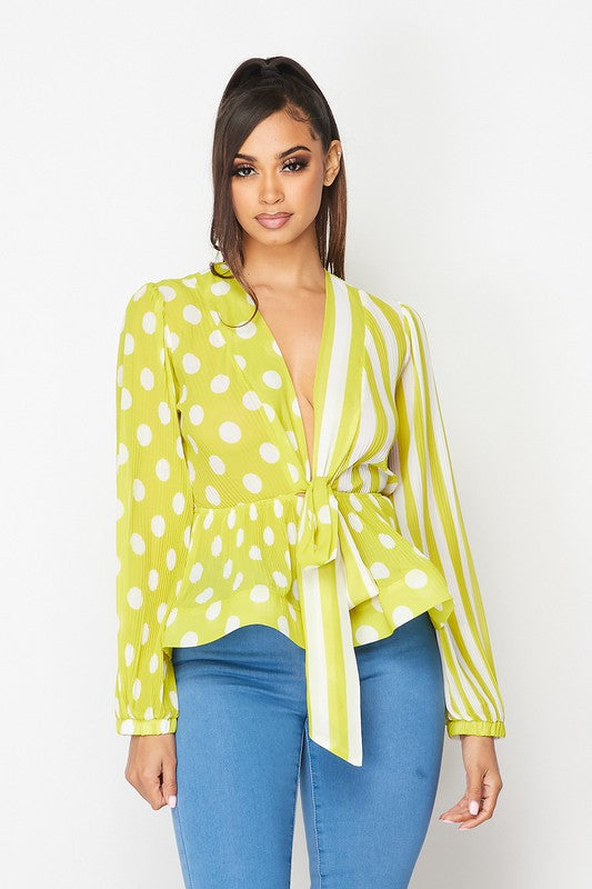 The Comeback Top in Chartreuse