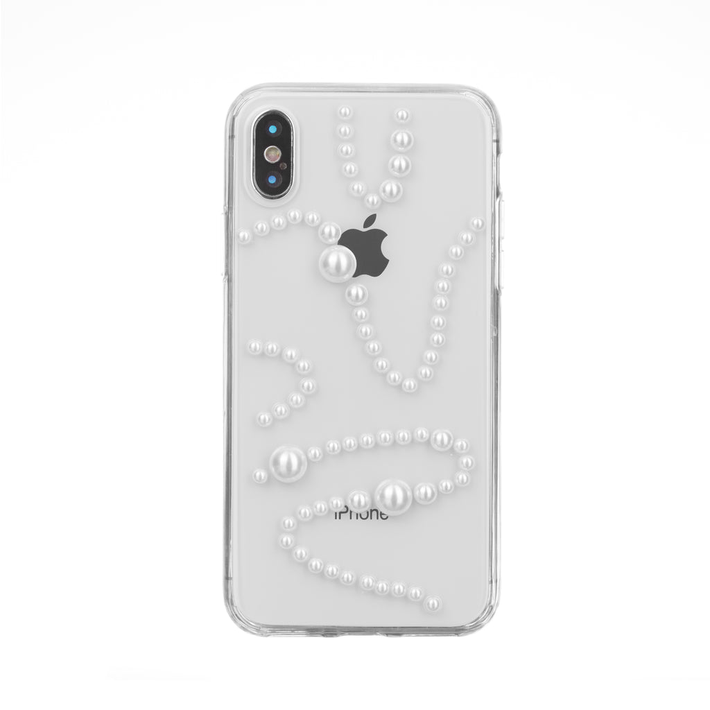 save off 71b75 58820 iPhone X Case - Kita Luxe White Pearl Clear Coat Cell Phone Case