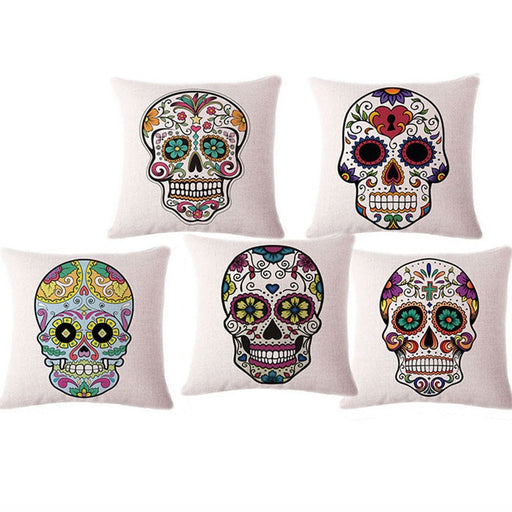 Mexican Skull Decorative Pillows