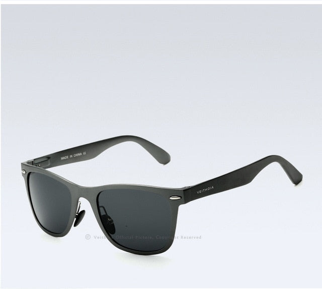 Unisex Aluminum Square Polarized Mirror Sun Glasses