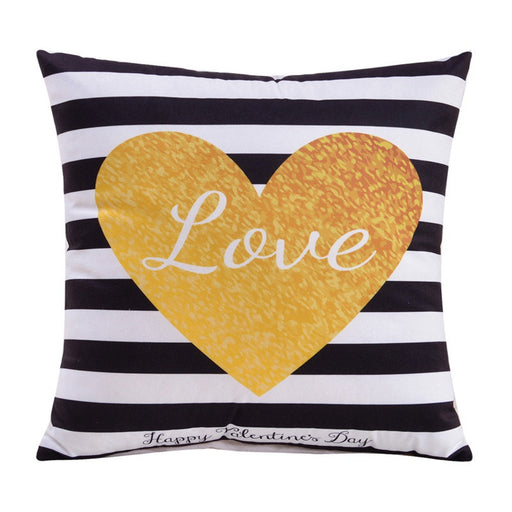 Letter Printed Decorative Home or Chair Pillow
