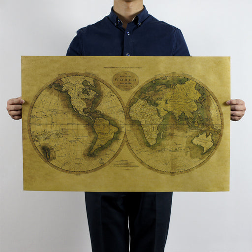 Old World Map Poster wall sticker