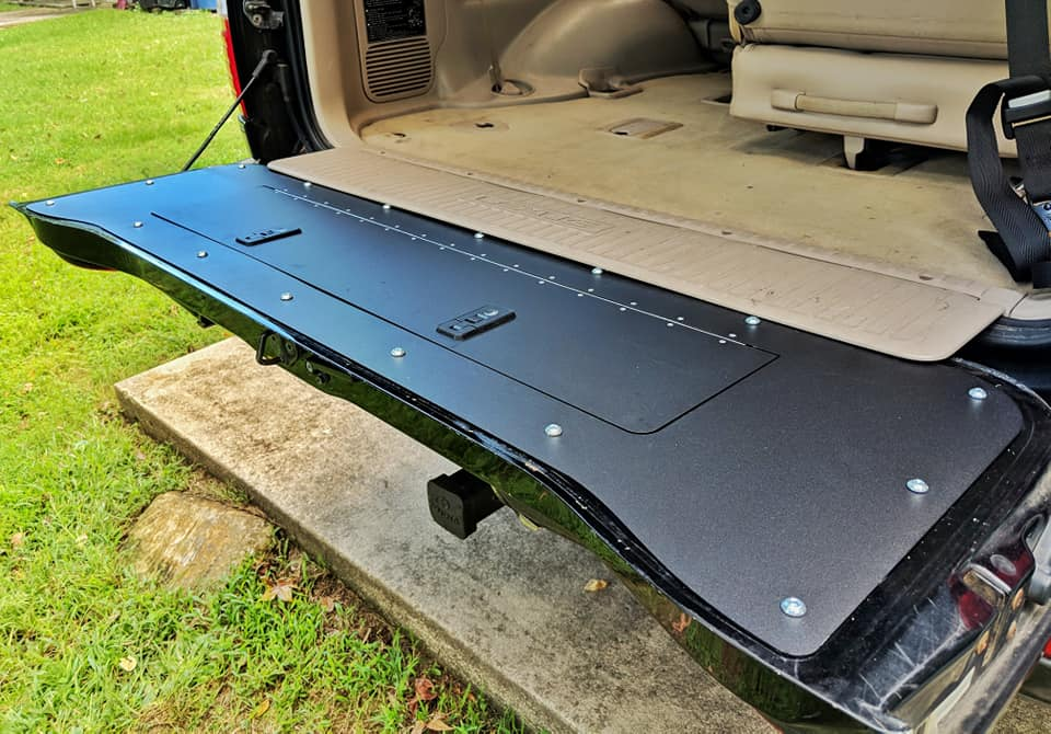 100 Series Land Cruiser tailgate storage mod - Shipping Mid-Feb