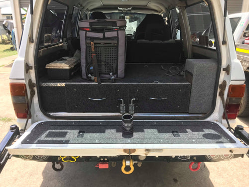 60 Series Land Cruiser tailgate storage mod