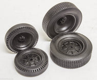 Early 1/25 Dished Dirt Black Resin tires set 2 fronts 2 rears Indy resin sale