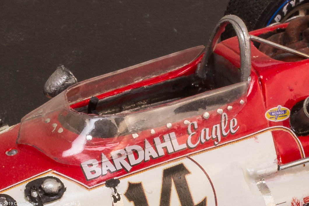 1/25 1966 Eagle two part Vac-u-Form WINDSCREEN kit for indy resin USAC Gurney (Parts)