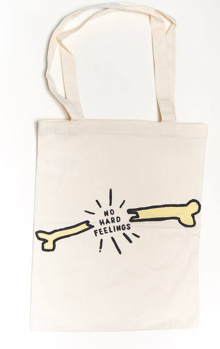 Copy of NO HARD FEELINGS Heart Tote Bag