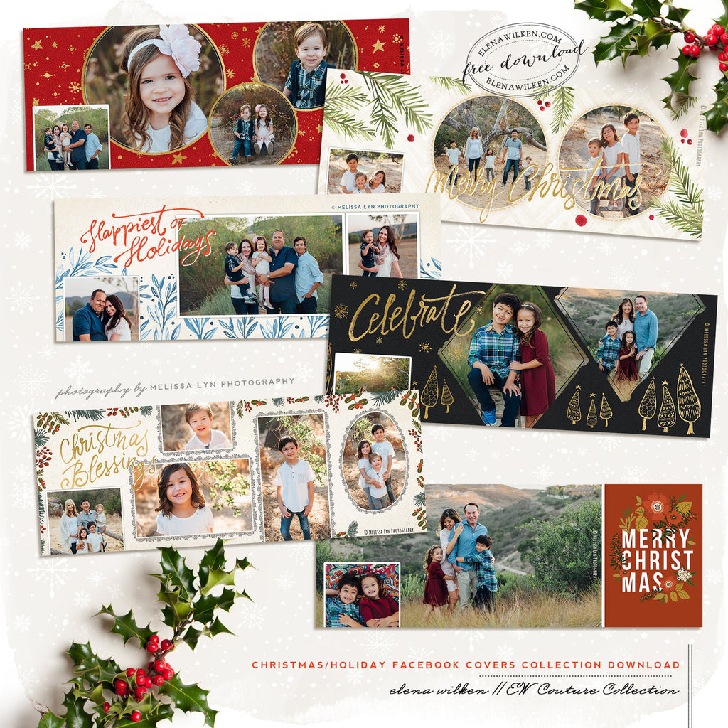 Custom Facebook Christmas and Holiday Timeline Covers