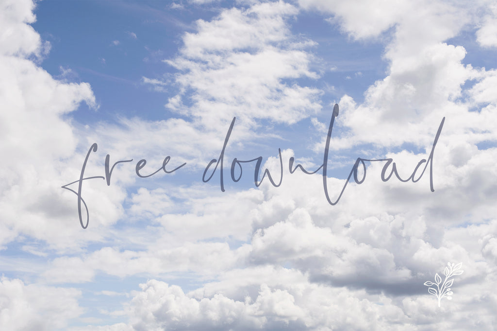 Free Download - 8 high-res cloudy skies textures