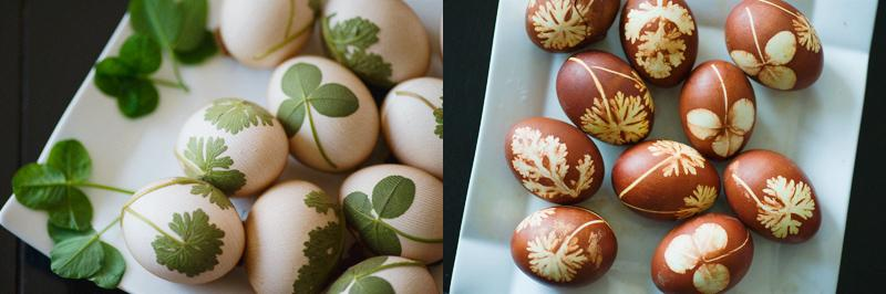 Color Easter eggs with a natural dye
