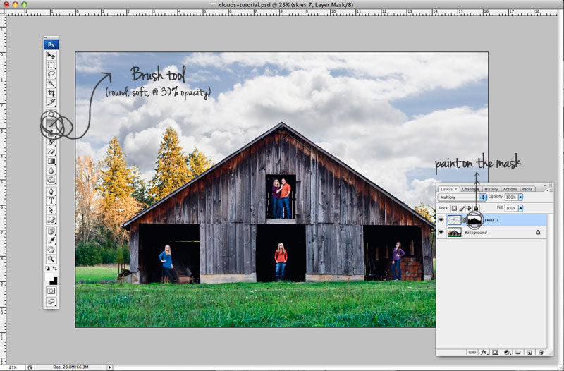 Tutorial - How to add clouds to a plain sky in Photoshop