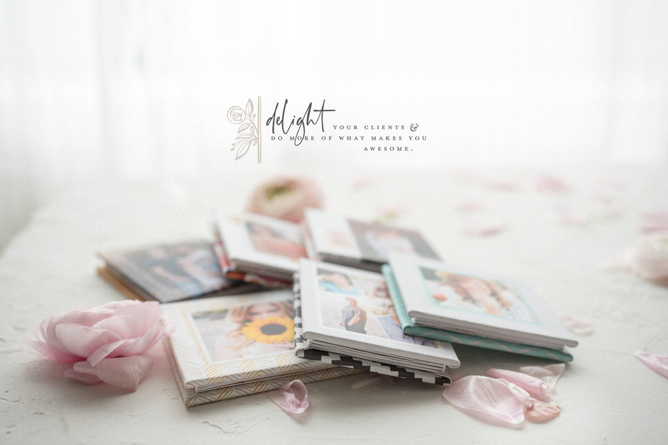 Mini accordion book templates for photographers