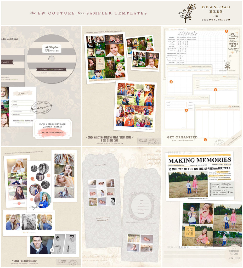 ew-couture free photographer photo-templates SAMPLER preview