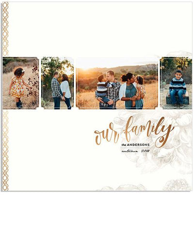 Organic Frames (2-in-1) 12x12 Miller's Signature Album-18 Spreads
