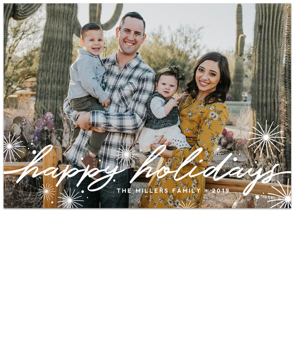 Tidings of Peace & Joy Overlay Card One 5x7 Flat Card - Personalized Foil Friendly