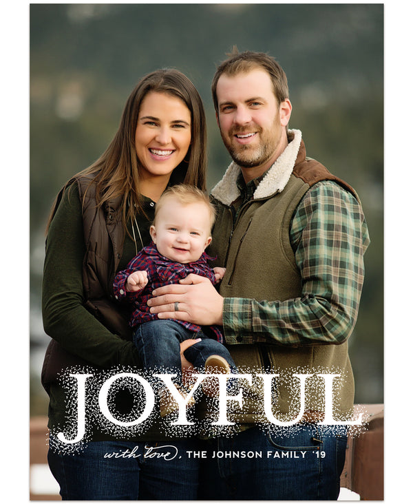 Tidings of Peace & Joy Overlay Card Three 5x7 Flat Card - Personalized Foil Friendly