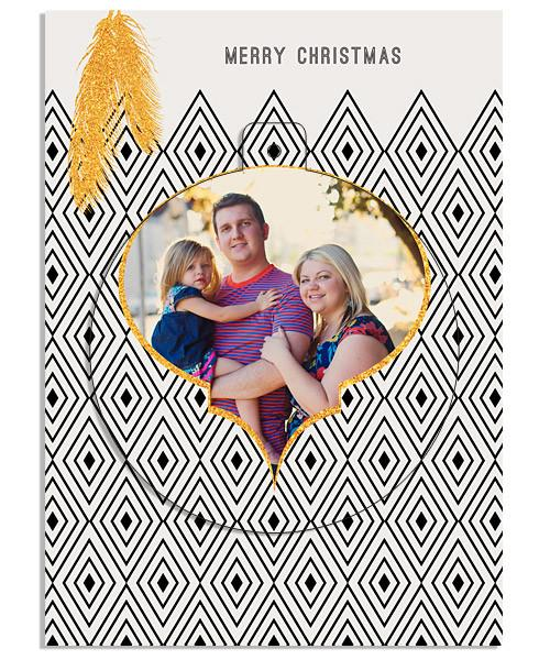 Christmas Feathers Circle Luxe Pop Card