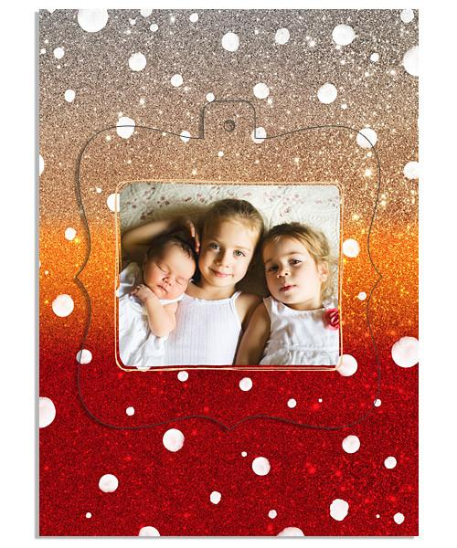 Christmas Snowfall Ornate Luxe Pop Card