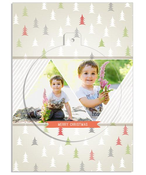 Tree Doodles Circle Luxe Pop Card