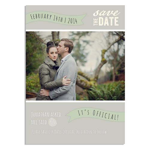 Autumn Romance 2-in-1 5x7 Flat Card